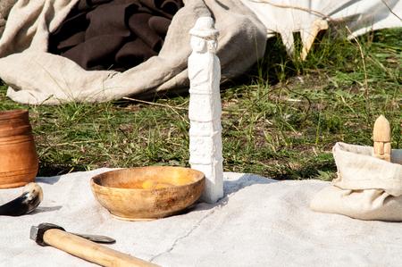 slavic: Slavic pagan god made of wood cutting