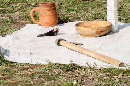 pagan: Slavic pagan god made of wood cutting