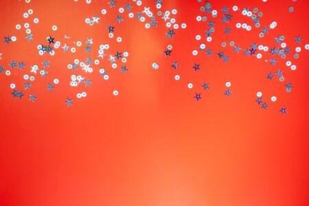 Boże Narodzenie wakacje tło dla tekstu z srebrnymi gwiazdami... Koncepcja Boże Narodzenie. Koncepcja nowego roku. Tło, tekstura. Zdjęcie Seryjne