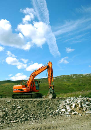 Earthmover in nature Stock Photo