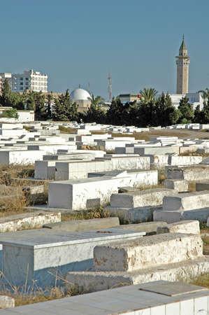 cemetery in Tunisia Stock Photo