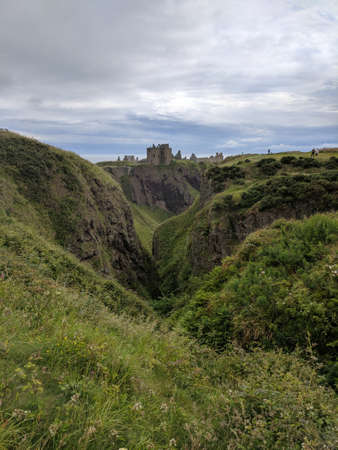 Ruins of Dunnottar Castle in Aberdeenshire, Scotland