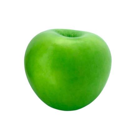 Single ripe apple isolated on white background. Stock Photo - 5256666