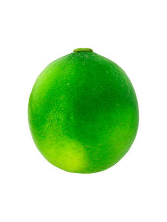 Single lime isolated on white background.