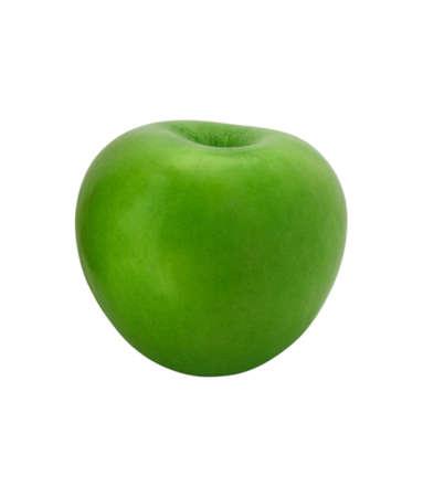 Single ripe apple isolated on white background. Stock Photo - 5586582