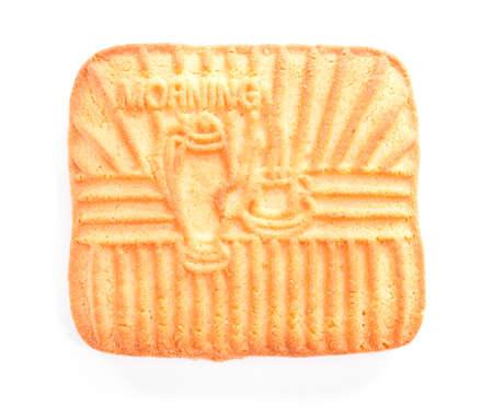 One tasty cookie isolated on white bakground  Stock Photo