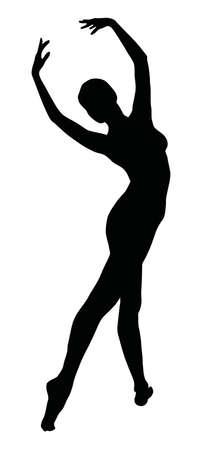 Ballerina silhouette.