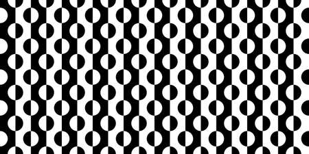 Black And White Seamless Abstract Pattern Vector Illustration