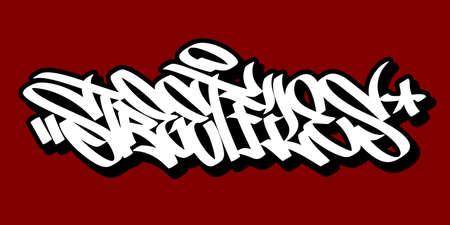 Abstract Hip Hop Hand Written Graffiti Style Word Street Files Vector Illustration
