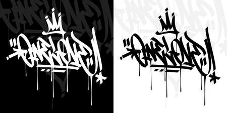 Abstract Hip Hop Hand Written Graffiti Style Word One Love Vector Illustration