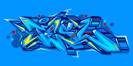 Abstract Word Lets Graffiti Style Font Lettering Vector Illustration Art 向量圖像