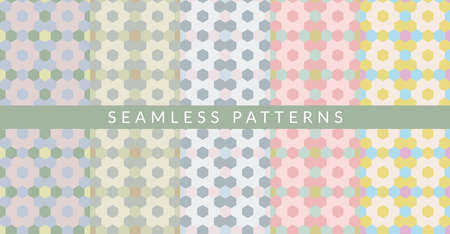Pastel Abstract Geometric Pattern Vector Illustration Background