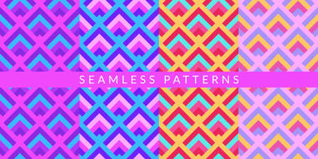 Colorful Abstract Geometric Pattern Vector Illustration Background