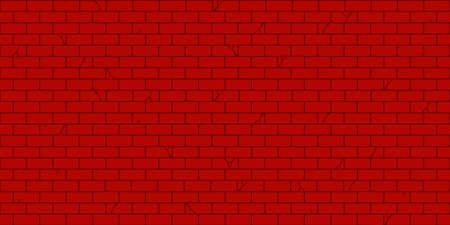 Flat Red Brick Wall Seamless Texture Decorative Background Vector Illustration Art