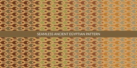 Seamless Ancient Egyptian Pattern Set Vector Illustration Art 向量圖像