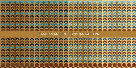 Seamless Ancient Egyptian Pattern Set Vector Illustration Background Art