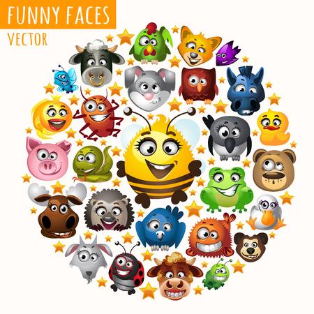 rana: Animales divertidos en el c�rculo