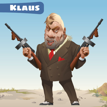 brigand: Fictional character - bandit Klaus Illustration