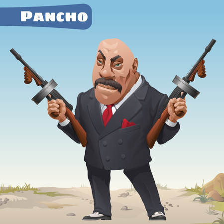 ruffian: Fictional cartoon character - bandit Pancho Illustration