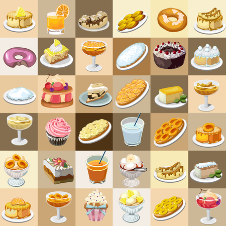 jellybean: great set of candys, cakes and other sweets Illustration