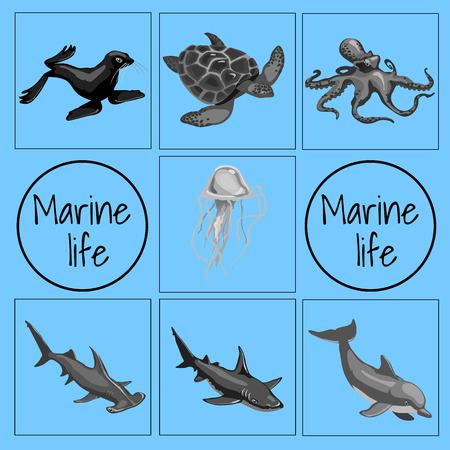 deepsea: Set of marine animals