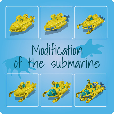 modification: Modification of the submarines. Set of 6 icons
