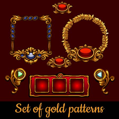 bulk: Bulk set of gold patterns and decorations