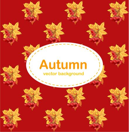 other space: Autumn sketch with space for text. Bright autumn background for a poster, invitation or other postcard Illustration