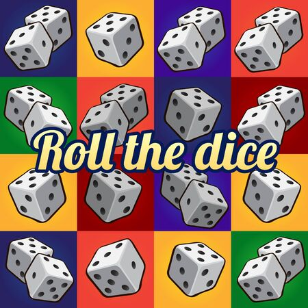 unlucky: Roll the dice, big set on a different background