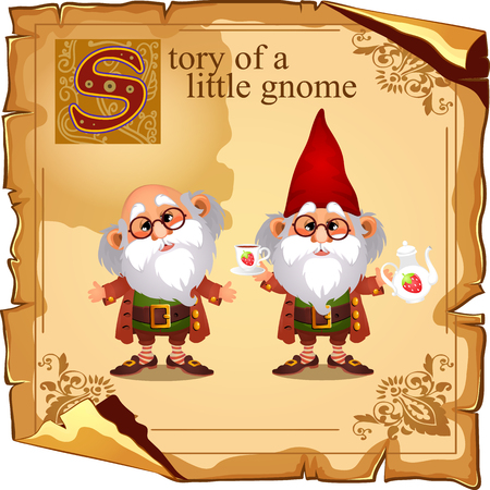 two story: Story of a little gnome, meeting of two grandfathers