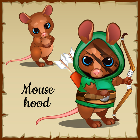 war paint: Mouse in a green suit and weapons