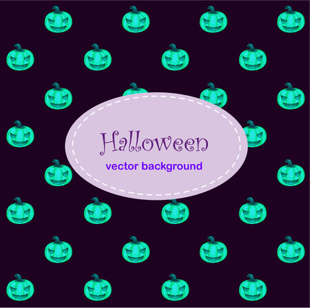 carved letters: Card background with Halloween neo pumpkin. Image with space for text. Dark background for a poster, invitation or other design needs Illustration