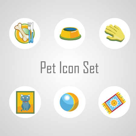prankster: Pet icons set, six different object