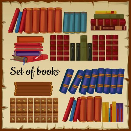 thesaurus: Set of vintage books from the library