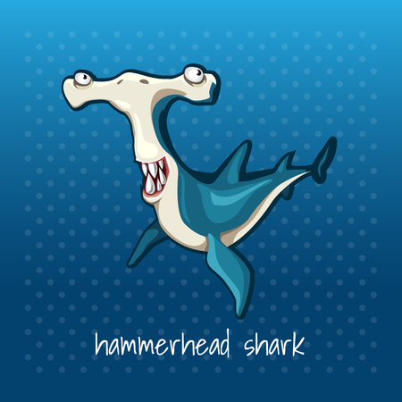 subaquatic: Fish hammer smiling on a dark blue background