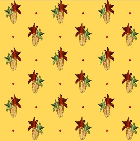 yellow vector: Corn pattern, yellow vector background