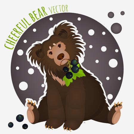shaggy: Shaggy bear with black currants in the teeth