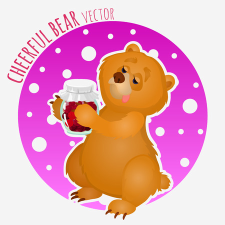 The sweet tooth bear with a jar of jam