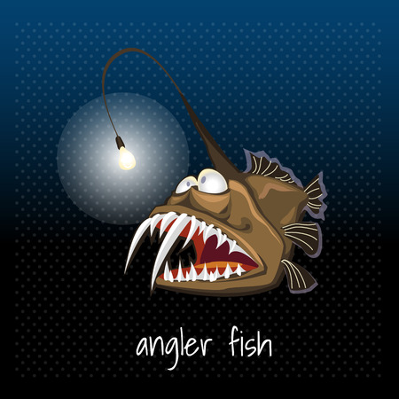 The angler fish with a lantern, monkfish, sea devil
