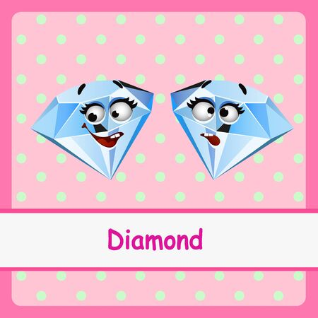 pellucid: Diamonds, funny characters on a pink background