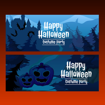 spooky forest: Two horizontal card path through the spooky forest, sample_text