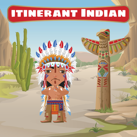 itinerant: Itinerant Indian, totem and cactus