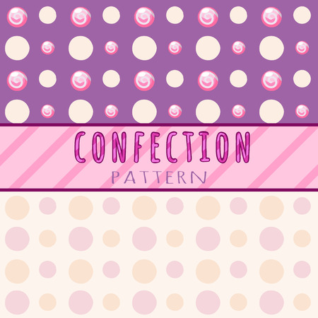 jellybean: Circles pattern candies on a pink background