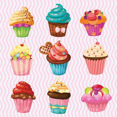 TORTA: conjunto de tortas, pasteles nueve diferentes