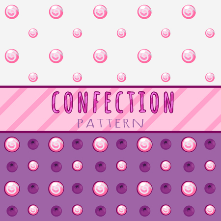 jellybean: Simple pattern candies on a pink background