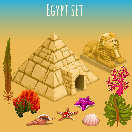 Mysterious Egypt, pyramid, Sphinx, and the underwater world