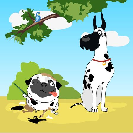 lens brush: Two funny dogs in disguise Dalmatians