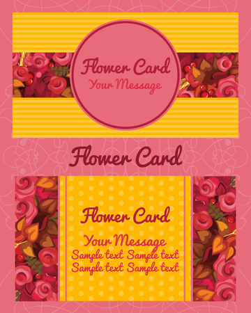adress: Flower design horizontal business card, name card