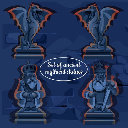 Ice mystical ancient statues