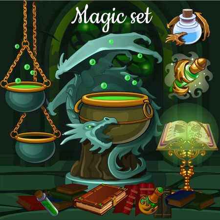 spells: Set of tools for witchcraft and spells